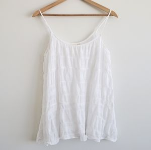 Anthropologie E by Eloise Gauze Cami white medium